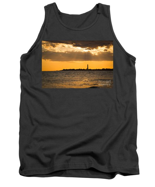 Golden Rays At Cape May Tank Top