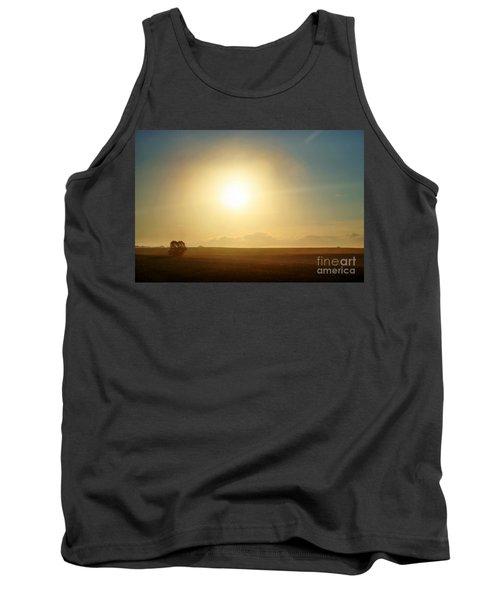 Tank Top featuring the photograph Golden Sunset by Judy Palkimas
