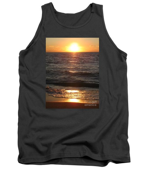 Tank Top featuring the photograph Golden Sunset At Destin Beach by Christiane Schulze Art And Photography
