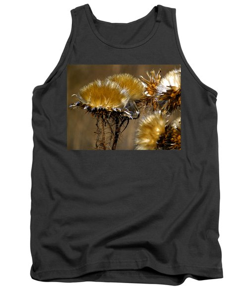 Golden Thistle Tank Top by Bill Gallagher