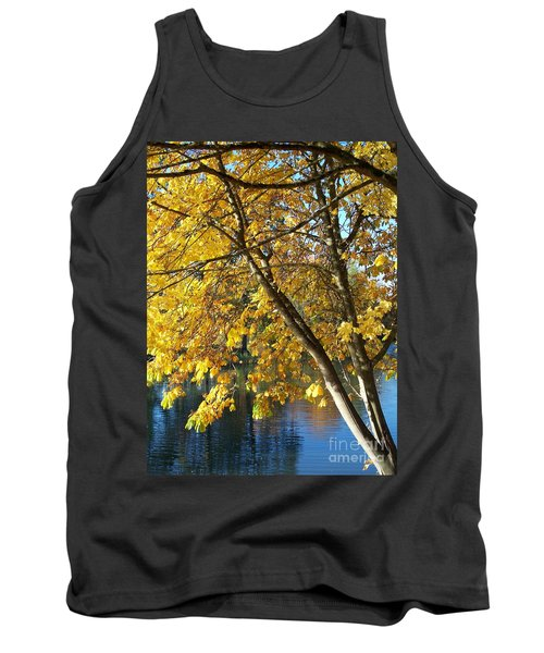 Tank Top featuring the photograph Golden Zen by Chalet Roome-Rigdon