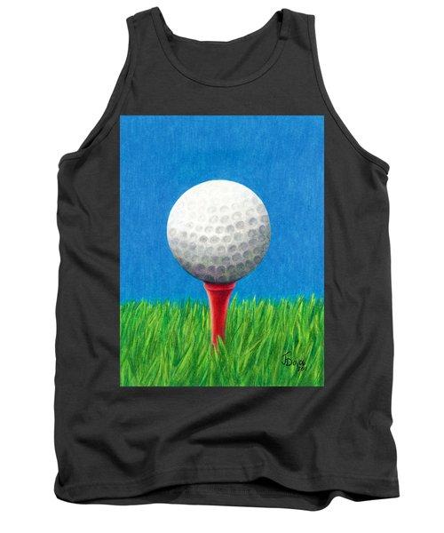 Golf Ball And Tee Tank Top by Janice Dunbar