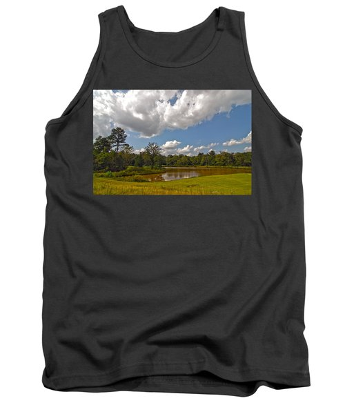 Tank Top featuring the photograph Golf Course Landscape by Alex Grichenko