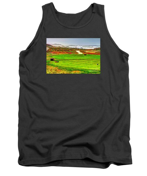 Tank Top featuring the photograph Golf Tee At Spyglass Hill by Jim Carrell