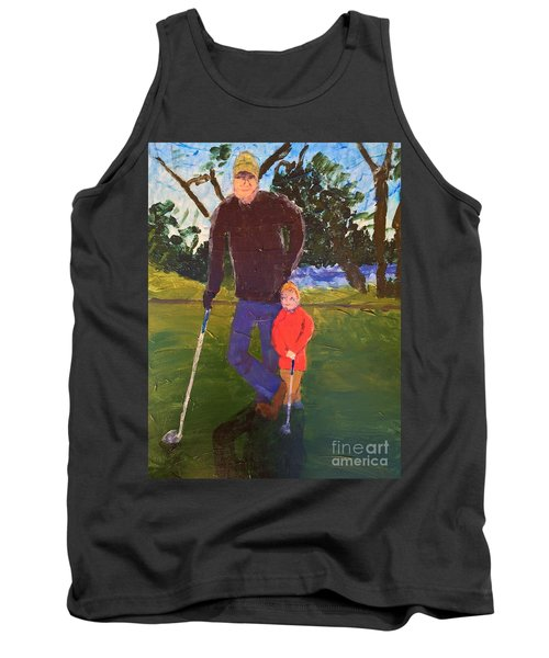 Tank Top featuring the painting Golfing by Donald J Ryker III