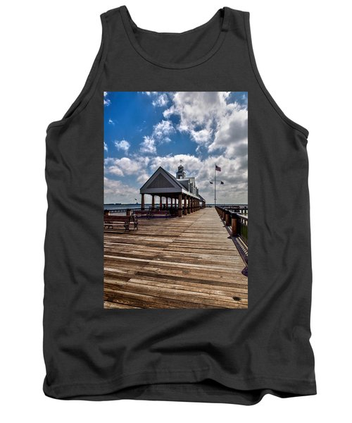Tank Top featuring the photograph Gone Fishing by Sennie Pierson
