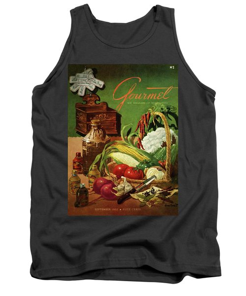 Gourmet Cover Featuring A Variety Of Vegetables Tank Top