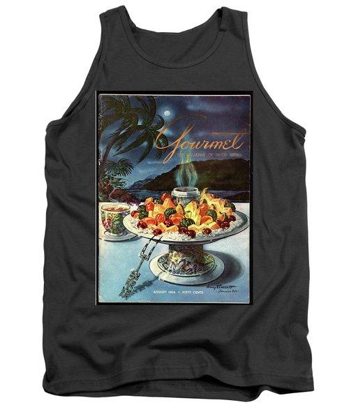 Gourmet Cover Illustration Of Fruit Dish Tank Top