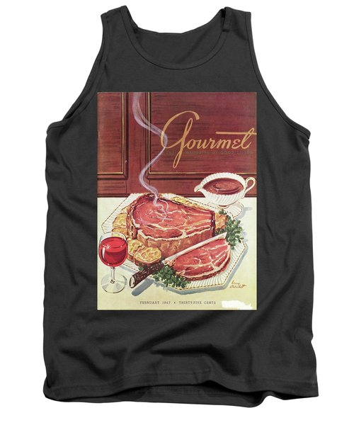Gourmet Cover Of A Roast Beef Tank Top