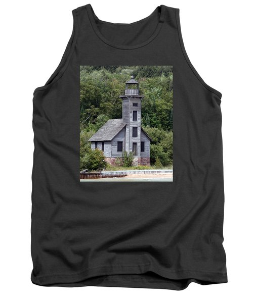 Grand Island East Channel Lighthouse Tank Top by George Jones