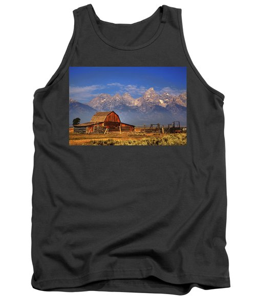 Grand Tetons From Moulton Barn Tank Top by Alan Vance Ley