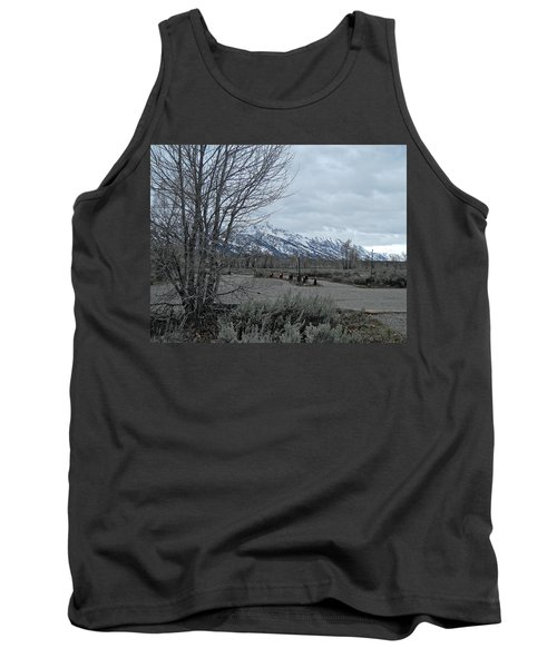 Grand Tetons Landscape Tank Top