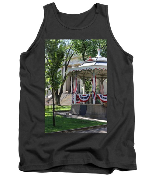 Tank Top featuring the photograph Grandstand Patriotism  by Natalie Ortiz
