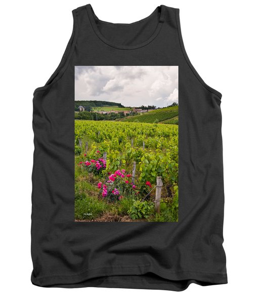 Tank Top featuring the photograph Grapes And Roses by Allen Sheffield