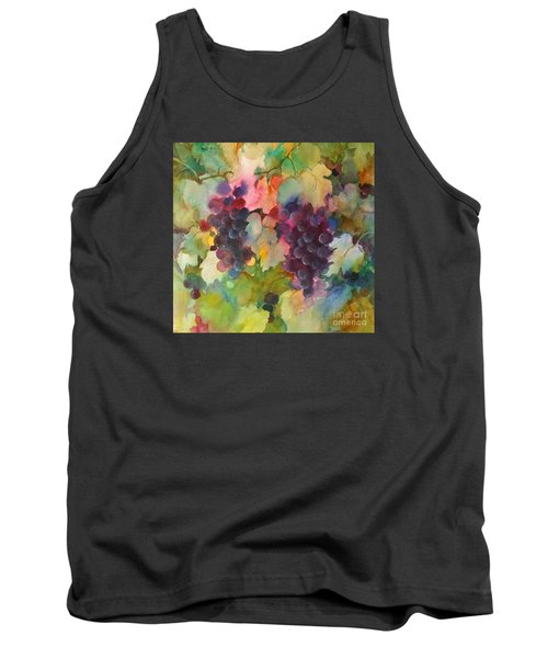 Tank Top featuring the painting Grapes In Light by Michelle Abrams