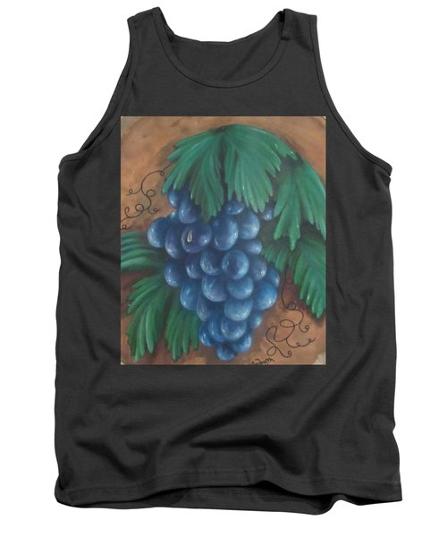 Grapes With Dewdrop Tank Top