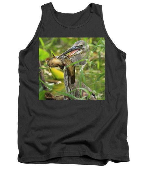 Great Blue Killer Tank Top by Adam Jewell