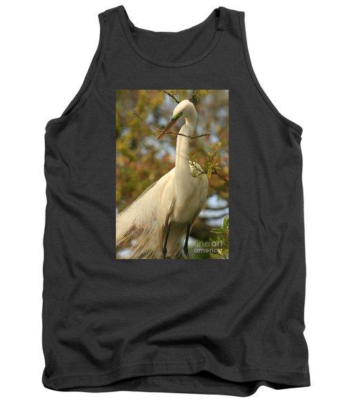 Great Egret Impressions Tank Top