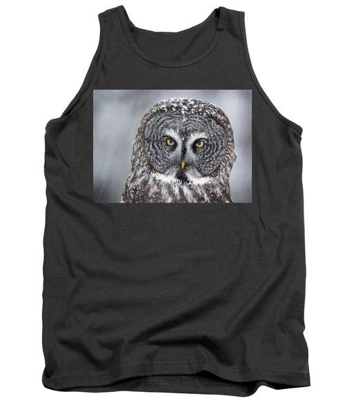 Great Gray Owl Scowl Minnesota Tank Top