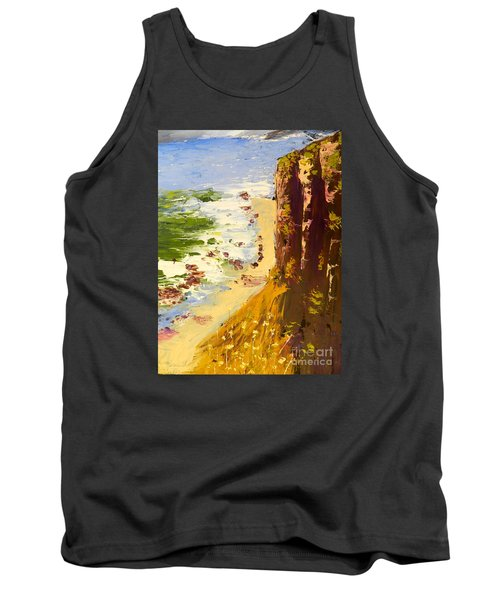 Tank Top featuring the painting Great Ocean Road by Pamela  Meredith