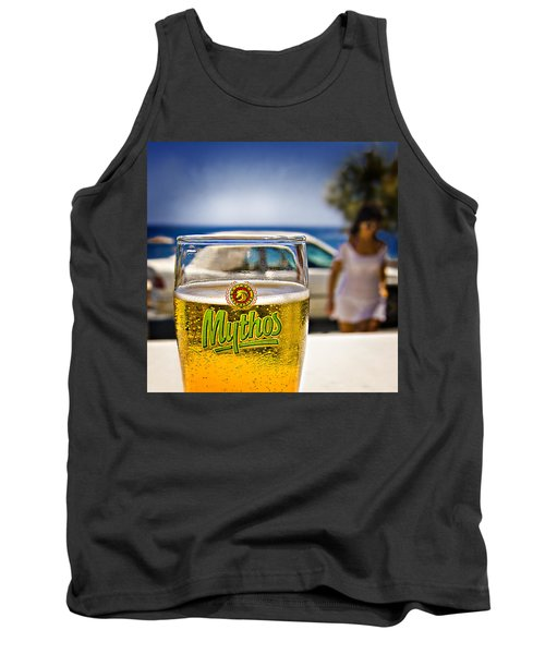 Tank Top featuring the photograph Greek Beer Goggles by Meirion Matthias