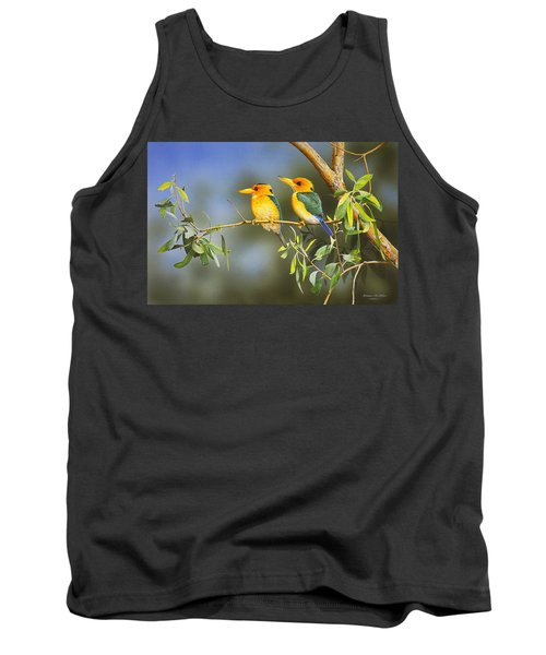 Green And Gold - Yellow-billed Kingfishers Tank Top