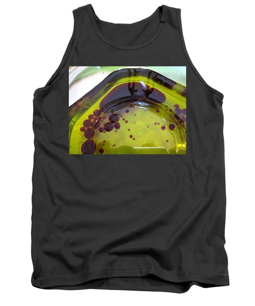 Green And Maroon Shapes Tank Top