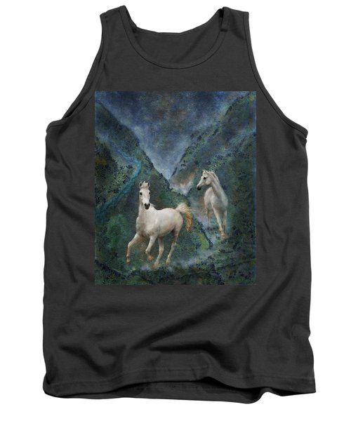 Green Canyon Run Tank Top by Melinda Hughes-Berland