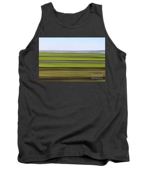 Green Field Abstract Tank Top