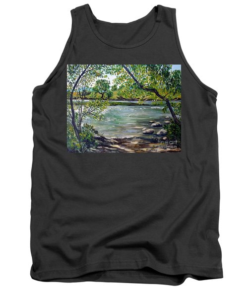 Green Hill Park On The Roanoke River Tank Top