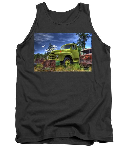 Green International Tank Top