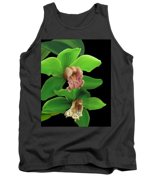 Green Orchids Tank Top
