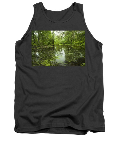 Green Blossoms On Pond Tank Top by Jerry Cowart