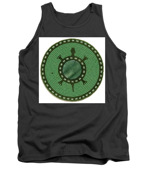 Green Shell Turtle Tank Top