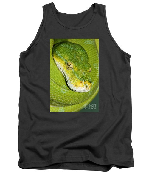 Tank Top featuring the photograph Green Tree Python #2 by Judy Whitton