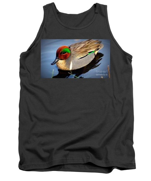 Green Winged Teal  Duck  Tank Top
