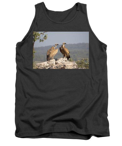 Griffon Vulture Pair Extremadura Spain Tank Top by Gerard de Hoog