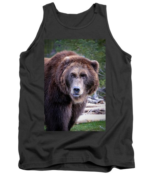 Tank Top featuring the photograph Grizzly by Athena Mckinzie