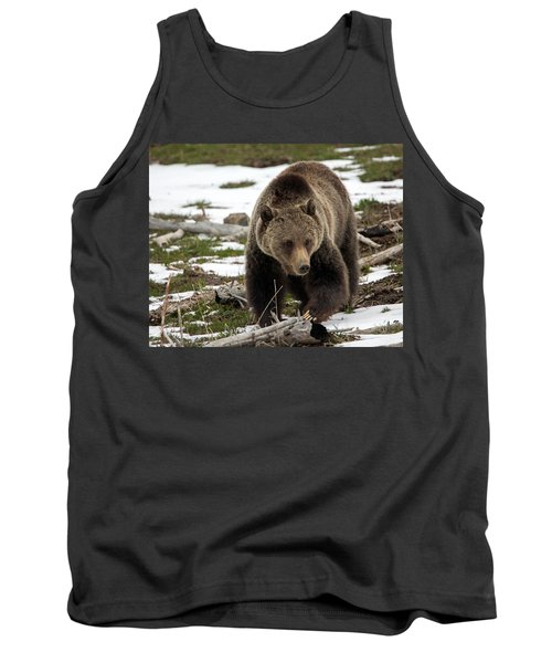 Tank Top featuring the photograph Grizzly Bear In Spring by Jack Bell