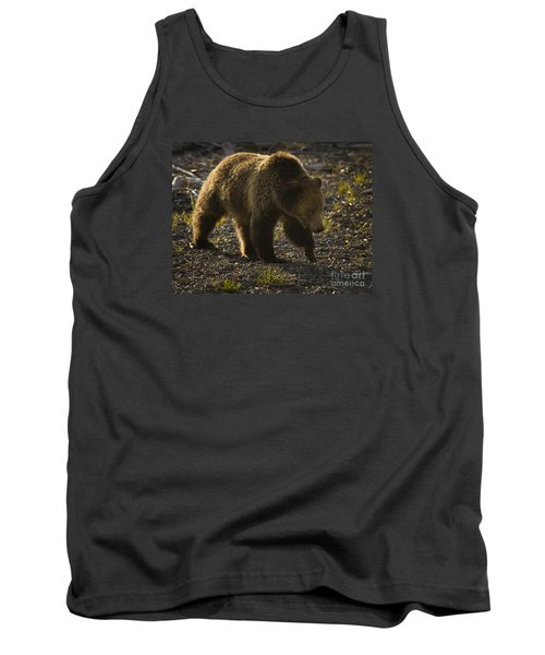 Grizzly Bear-signed-#4435 Tank Top by J L Woody Wooden