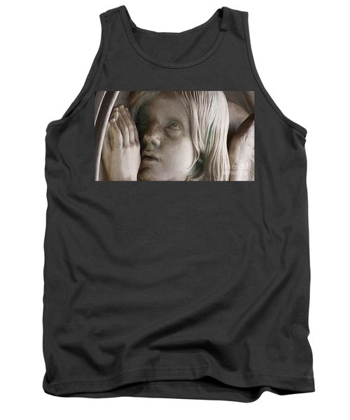 Guardian Angel With Praying Hands Tank Top