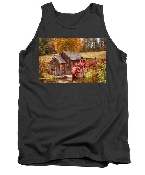 Tank Top featuring the photograph Guildhall Grist Mill by Jeff Folger