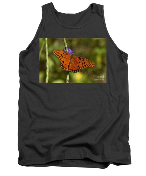 Tank Top featuring the photograph Gulf Fritillary Butterfly by Meg Rousher