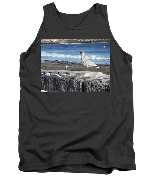 Tank Top featuring the photograph Seagull  by Eunice Miller