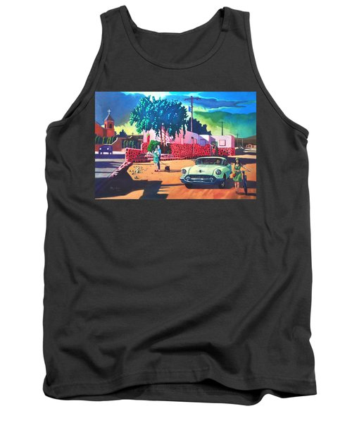 Guys Dolls And Pink Adobe Tank Top by Art James West
