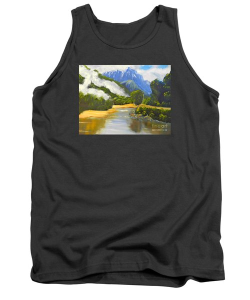 Tank Top featuring the painting Haast River New Zealand by Pamela  Meredith