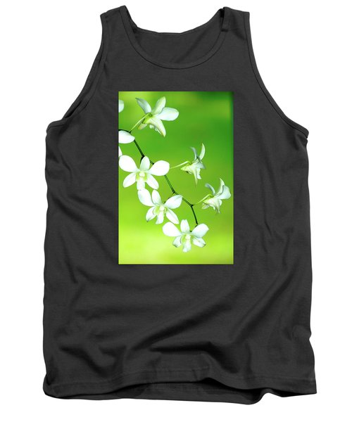 Tank Top featuring the photograph Hanging White Orchids by Lehua Pekelo-Stearns