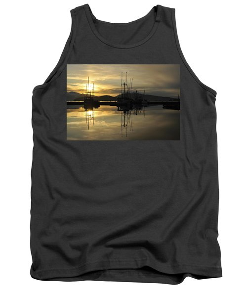 Tank Top featuring the photograph Harbor Sunset by Cathy Mahnke