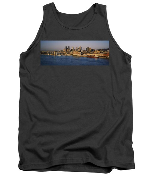Harbor With The City Skyline, Montreal Tank Top