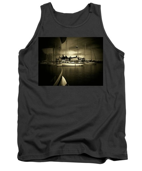 Tank Top featuring the photograph Harbour Life by Micki Findlay